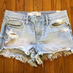 A&F destroyed jean shorts size 2.